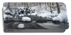 The Secret Waterfall In Winter 2 Portable Battery Charger