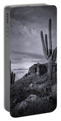 Portable Battery Charger featuring the photograph The Sentinels Of The Supes In Black And White  by Saija Lehtonen