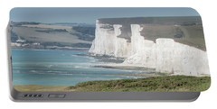 Portable Battery Charger featuring the photograph The Seven Sisters White Cliffs by Perry Rodriguez