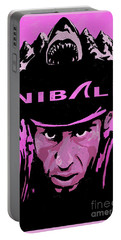 Portable Battery Charger featuring the painting The Shark Of Messina Nibali by Sassan Filsoof