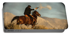 The Sharp Shooter Western Art By Kaylyn Franks Portable Battery Charger