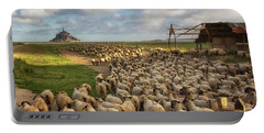 The Sheep Of Mont Saint Michel Portable Battery Charger