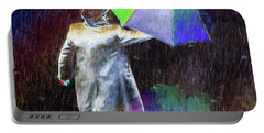 Portable Battery Charger featuring the photograph The Sheer Joy Of Puddles by LemonArt Photography