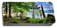 Portable Battery Charger featuring the photograph The Shore At Covewood by David Patterson