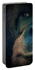 The Shy Orangutan Portable Battery Charger by Martin Newman