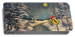 The Signs Of Christmas Portable Battery Charger by Randy Burns