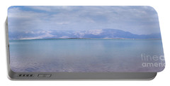 Portable Battery Charger featuring the photograph The Silence Of The Dead Sea by Yoel Koskas