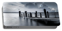 Portable Battery Charger featuring the photograph The Silver Lining by Robin-Lee Vieira