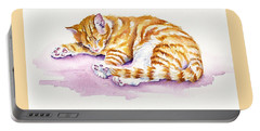 The Sleepy Kitten Portable Battery Charger