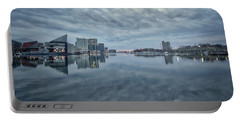 Portable Battery Charger featuring the photograph The Sliver Of Sunrise by Mark Dodd