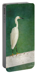 The Small White Heron - Snowy Egret Portable Battery Charger