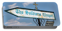 The Soldiers Chapel Sign Portable Battery Charger