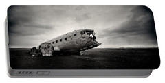 The Solheimsandur Plane Wreck Portable Battery Charger by Tor-Ivar Naess