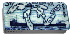 The Soo Locks Stamp Portable Battery Charger