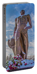 The Spartan Statue Michigan State Portable Battery Charger by John McGraw