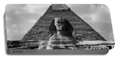 The Sphynx And The Pyramid Portable Battery Charger
