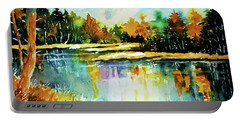 The Splendor And  Color Of Autumn Portable Battery Charger by Al Brown
