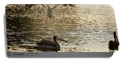 The Spot-billed Pelican Or Grey Pelican  Pelecanus Philippensis  Portable Battery Charger