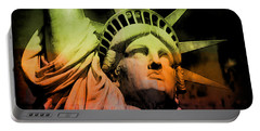 The Statue Of Liberty Portable Battery Charger by Kim Gauge