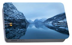 Portable Battery Charger featuring the photograph The Stillness Of The Sea by David Chandler