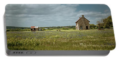 Portable Battery Charger featuring the photograph The Stone House by Linda Unger