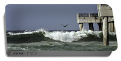 Portable Battery Charger featuring the photograph The Storm  by Debra Forand
