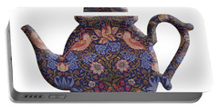 The Strawberry Thief Pattern Teapot Portable Battery Charger