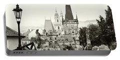 Portable Battery Charger featuring the photograph The Stream Of People On Charles Bridge. Prague by Jenny Rainbow