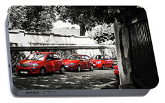 Portable Battery Charger featuring the photograph The Street Of Red Cars by Jenny Rainbow