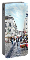 The Streets Of Old Lisbon Portable Battery Charger