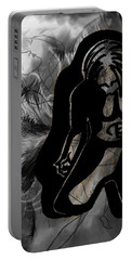 Portable Battery Charger featuring the drawing The Struggle Within by Sheila Mcdonald
