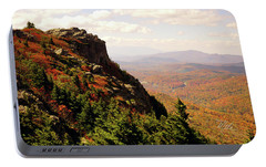 Portable Battery Charger featuring the photograph The Summit In Fall by Meta Gatschenberger