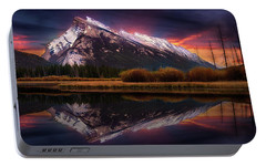 Portable Battery Charger featuring the photograph The Sun Also Rises by John Poon