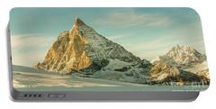 The Sun Sets Over The Matterhorn Portable Battery Charger