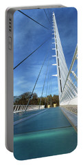 Portable Battery Charger featuring the photograph The Sundial Bridge by James Eddy