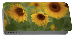 The Sunflowers In The Field Portable Battery Charger