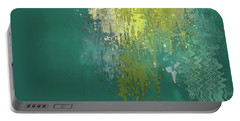 Portable Battery Charger featuring the digital art The Sunken Cathedral by Gina Harrison