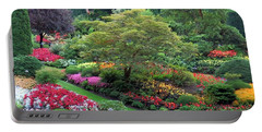 The Sunken Garden At Dusk Portable Battery Charger