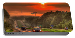 The Sunrise Commute Georgia Interstate 20 Art Portable Battery Charger