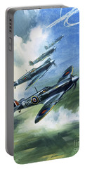 The Supermarine Spitfire Mark Ix Portable Battery Charger by Wilfred Hardy