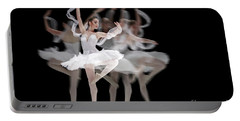 Portable Battery Charger featuring the photograph The Swan Ballet Dancer by Dimitar Hristov