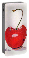 The Sweet Taste Of Summer Portable Battery Charger by Angela Davies