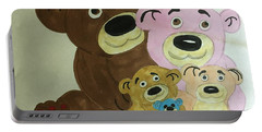 The Teddy Family  Portable Battery Charger