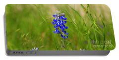 The Texas Bluebonnet Portable Battery Charger by Kathy White