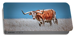 Portable Battery Charger featuring the photograph The Texas Longhorn by Linda Unger