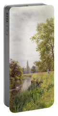 The Thames At Purley Portable Battery Charger