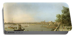 The Thames From The Terrace Of Somerset House Portable Battery Charger