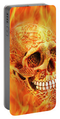 Flaming Skull Portable Battery Charger