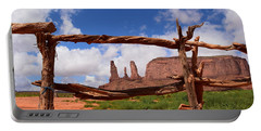 Portable Battery Charger featuring the photograph The Three Sisters Framed - Arizona by Dany Lison