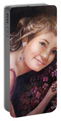 The Topaz Earring Portable Battery Charger